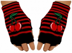 Fingerlose Handschuhe Red Cherry