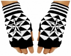 Fingerlose Handschuhe White Star