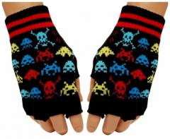 Fingerlose Handschuhe Mean Skulls