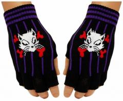 Fingerlose Handschuhe Cat & Bones