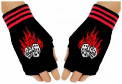 Fingerlose Handschuhe Flaming Dices