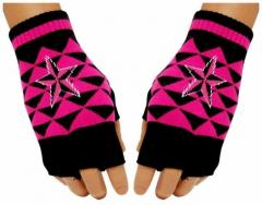 Fingerlose Handschuhe Motiv nautischer Stern