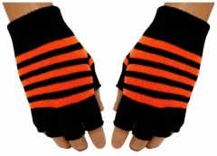 Fingerlose Handschuhe Neon Orange Stripes