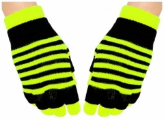 2in1 Handschuhe Neon Yellow Stripes