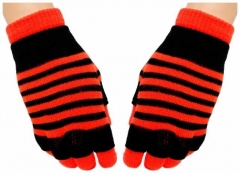 2in1 Handschuhe Neon Orange Stripes