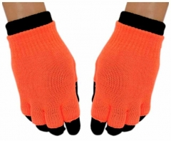 2in1 Handschuhe Neon Orange