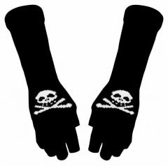 Armwärmer mit Totenkopf-Muster