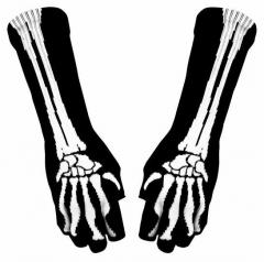 Armwärmer mit Skelett Muster