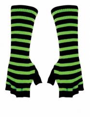 Armwärmer mit neongrünen Streifen