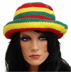 Rasta Hut mit Krempe