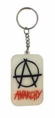 Schöner Anarchie Schlüsselanhänger aus Gummi