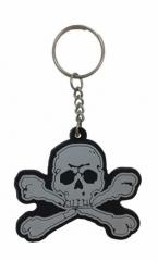 Piratentotenkopf Schlüsselanhänger aus Gummi