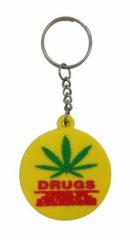 Cannabis Drugs Schlüsselanhänger aus Gummi