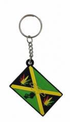 Jamaika Schlüsselanhänger aus Gummi