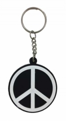 Peace Schlüsselanhänger aus Gummi