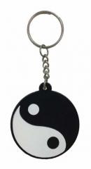 Yin Yang Schlüsselanhänger aus Gummi
