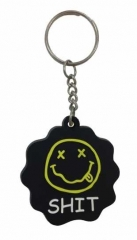 Cooler Anti Nazi Schlüsselanhänger aus Gummi