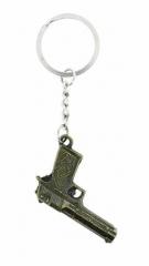 KEX 129 - Schlüsselanhänger - Goldene Pistole