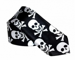 Black tie with Large Skulls