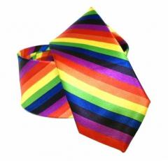Schwarze Krawatte mit Regenbogen