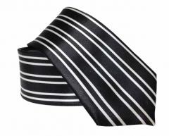 Schwarze Krawatte mit Linierte