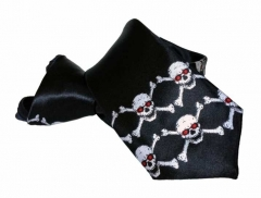 Skulls Carneval Tie with Zip