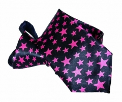 Pink Stars Carneval Tie with Zip