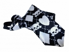 Skulls and Pink Crosses Carneval Tie with Zip