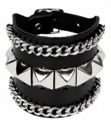 Armband Pyramidennieten & Ketten