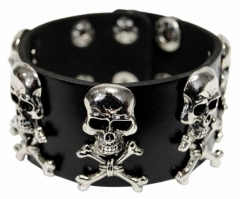 Wristband with Skull Studs