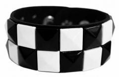 Armband Pyramidennieten Schwarz & Weiß