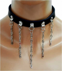 Chain Leather Choker