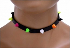 Choker Colored Pointed Studs