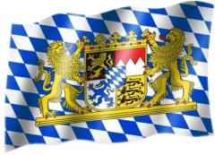 Bayern Wappen - Fahne