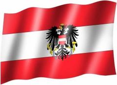 Oesterreich Wappen - Fahne