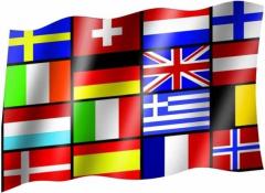 16 Europastaaten - Fahne