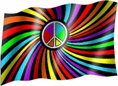 Regenbogen - Fahne