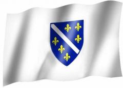 Bosnien & Hrzg. Wappen - Fahne