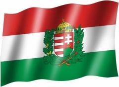 Ungarn Wappen - Fahne