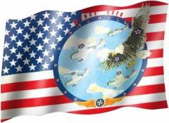 Wings over America - Fahne