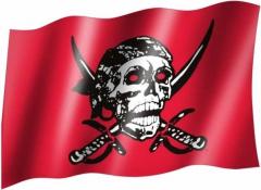 Totenkopf & Schwert - Fahne