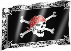 Piraten Totenkopf - Fahne