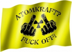 Atomkraft? Fuck Off! - Fahne