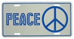 Peace Blechschild - 30cm x 15cm