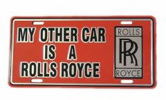 Rolls Royce Blechschild - 30cm x 15cm