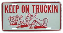 Keep on truckin Blechschild - 30cm x 15cm