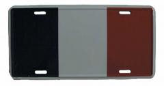 Frankfreich Blechschild - 30cm x 15cm