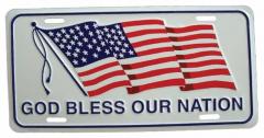 God bless our nation Blechschild - 30cm x 15cm