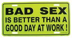 Bad sex Tin Sign 30cm x 15cm