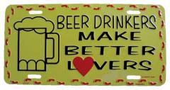 Beer drinkers Blechschild - 30cm x 15cm
